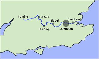 Map Of Thames River River Thames