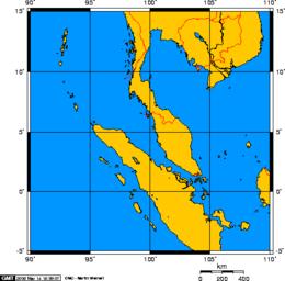 Malacca On World Map.Strait Of Malacca