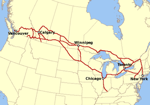 Canadian Pacific Map Canadian Pacific Railway