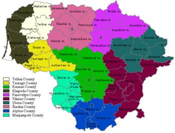 Lithuania - Lithuania map
