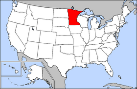 Minnesota - Map of the us with mn highlighted