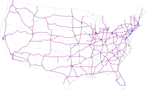 United States Numbered Highways - Map-of-interstate-highways-in-us