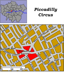 Piccadilly Circus Map Piccadilly Circus