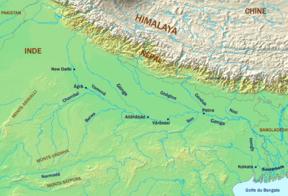 Map Of Asia Ganges River.Ganges River