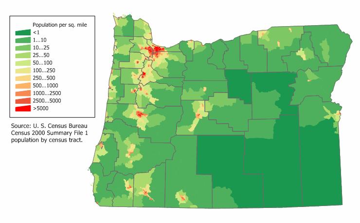 Free Oregon Map.Image Oregon Population Map Png Wikipedia The Free Encyclopedia