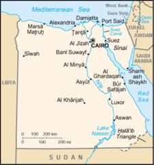 Egypt - Map of egypt eastern desert