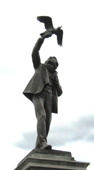Estátua de Rodenbach Albrecht por Jules Lagae belga