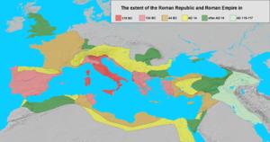 Roman Empire - Map of rome under trajan