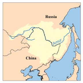 Amur River On World Map.Amur