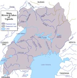Lake Albert - Main rivers in africa