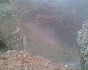 the crater of vesuvius (clearer image)