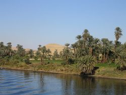 List of rivers by length view of the nile river the longest in the world from a cruiseboat sciox Images