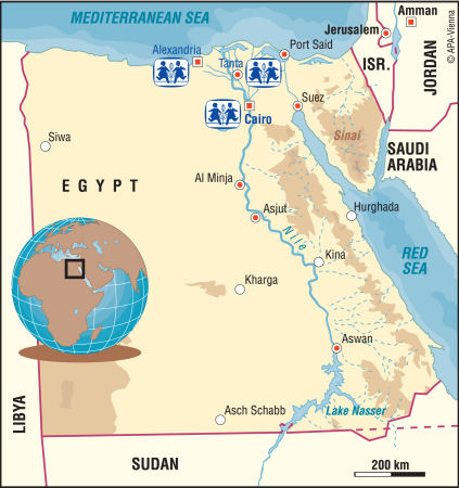 nile delta africa map