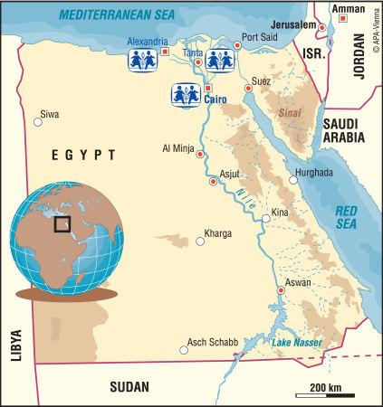 Egypt Charity Sponsor A Child In Egypt - Map of egypt nile delta