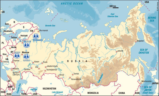 maps of russia for kids. SOS Children in Russia