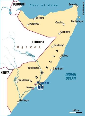 mogadishu in africa map
